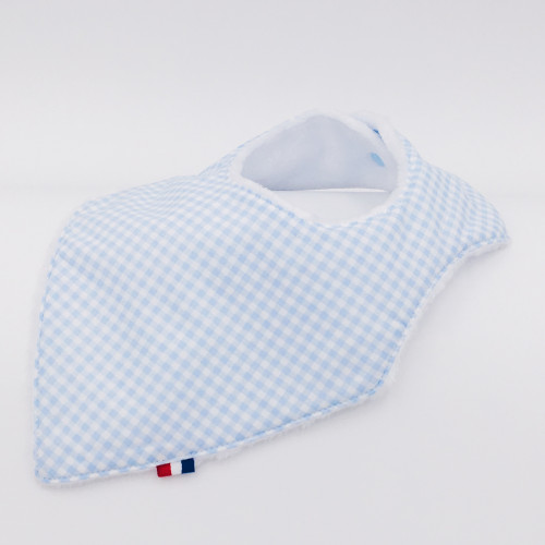 Bandana Bib Le Vichy Bleu Made in France