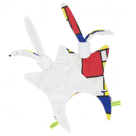 Back And Side Baby Comforter Le Mondrian. French Manufacturer
