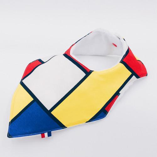 Bandana Birth Gift Baby Comforter + Bandana Bib Mondrian
