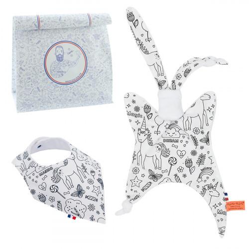Birth Gift Baby Comforter + Bandana Bib Sally