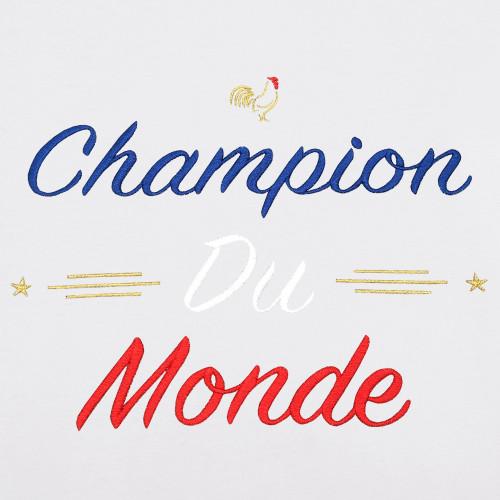 Embroidery White Champion Du Monde Man's T-shirt