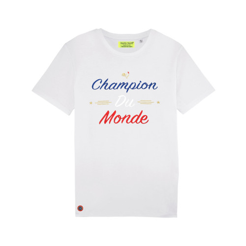 White Champion Du Monde Man's T-shirt