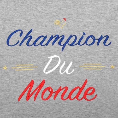 Embroidery Grey Champion Du Monde Woman T-shirt