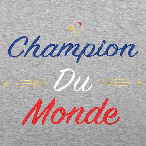 Embroidery Grey Champion Du Monde Man's Sweat