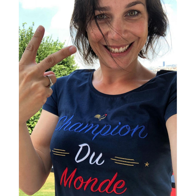 Navy Champion Du Monde Ladies T-shirt
