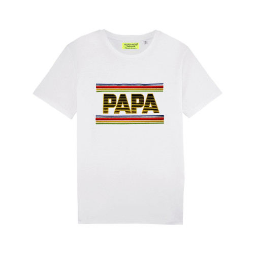 WHITE 'PAPA' MAN'S T-SHIRT