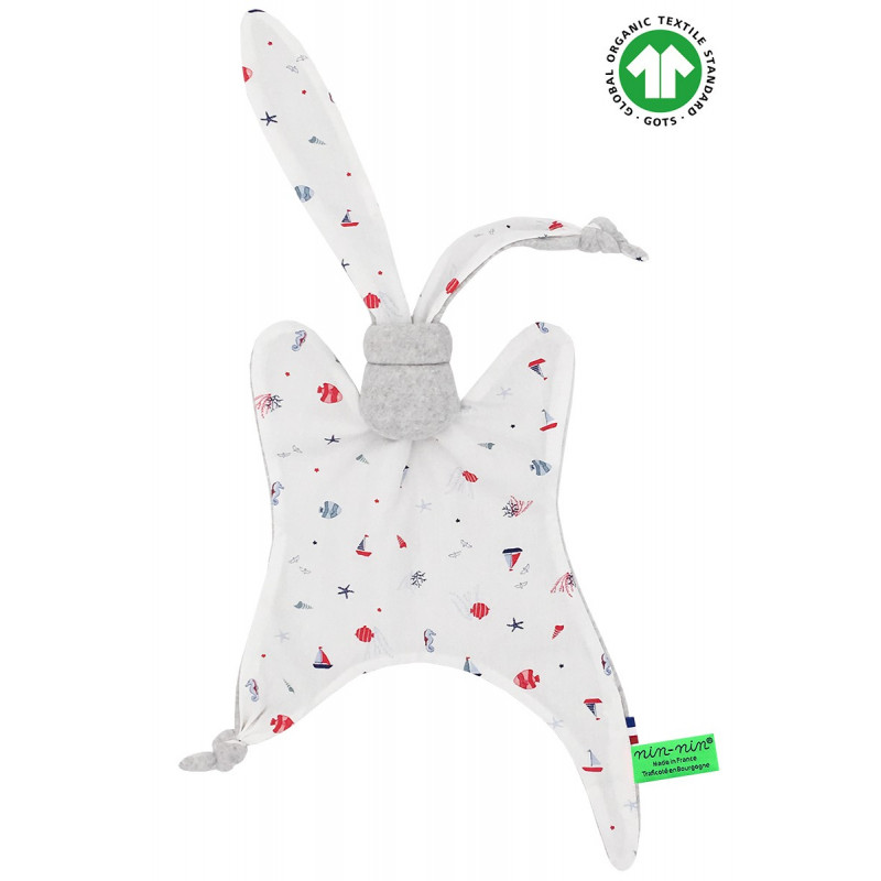 Organic baby comforter Le Saint Barth. Made in France