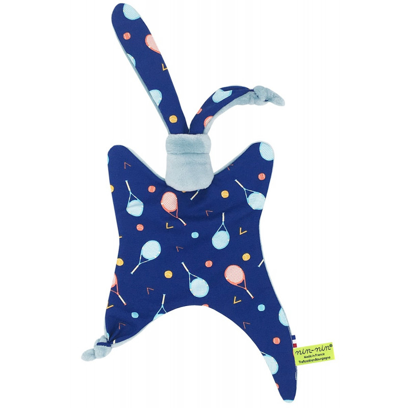 Personalised baby comforter Le Tennisman. Made in France