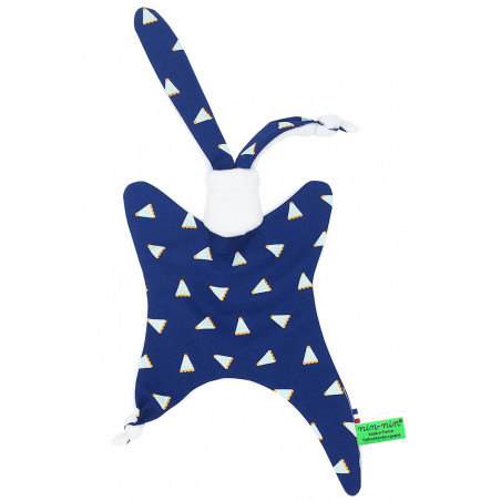 Personalised baby comforter Le Badminton. Made in France