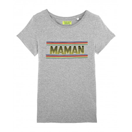 Original shirt for women. Embroidery MAMAN. Made in France