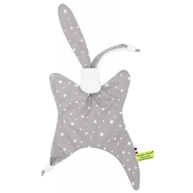 Personalised baby comforter Benjamin Millepied. Original birth gift made in France
