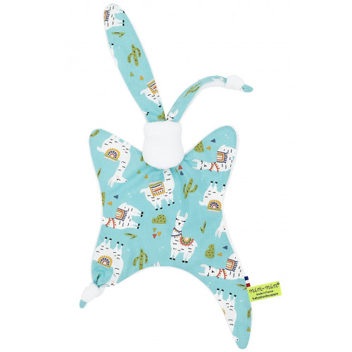 Personalised camelid baby comforter. Original and made in France