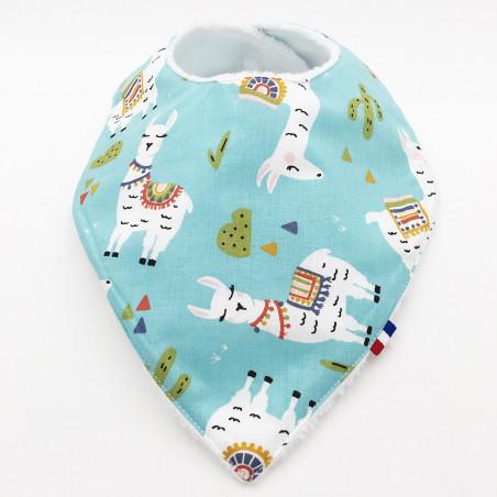 Personalised bandana bib Llama. Made in France.