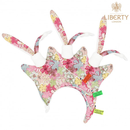 Labels personalised baby comforter Le Magaret. Liberty of London addict !