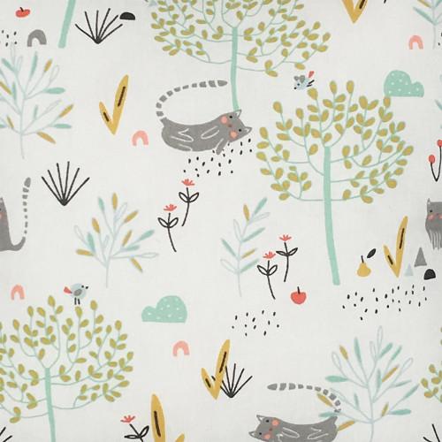 Fabric personalised pillow zen. Original birth gift made in France. Brand Nin-Nin