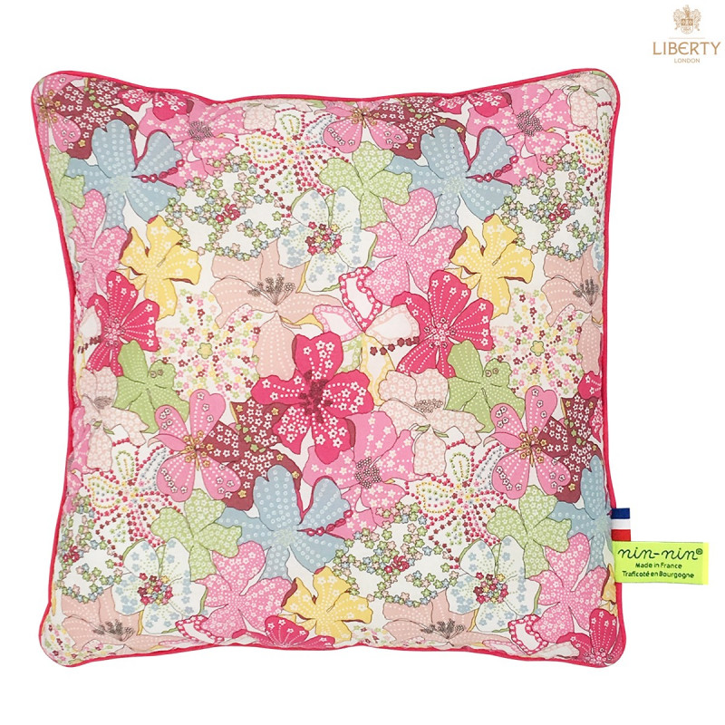 Personalised pillow Le Margaret Liberty of London. Original, cool and made in France. Nin-Nin
