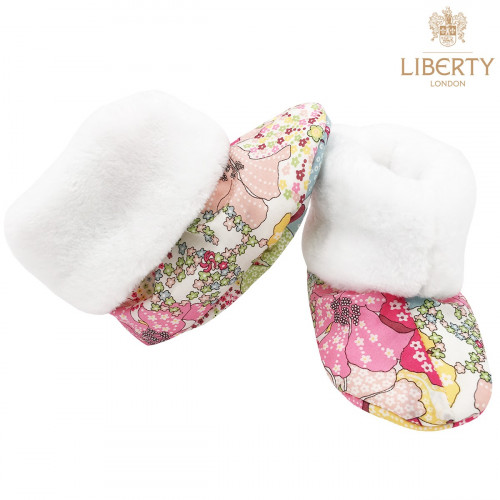 Bootee Margaret Liberty of London. Original baby birth gift made in France. Nin-Nin
