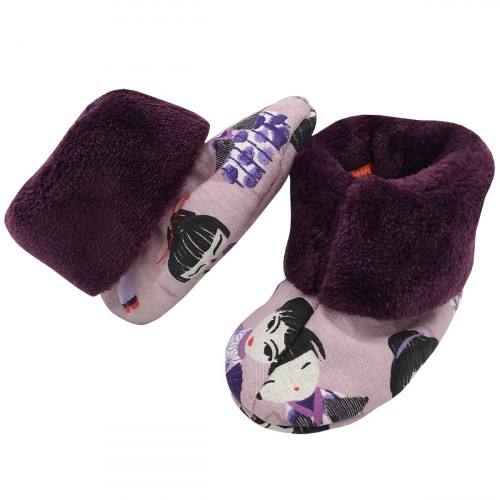 Bootee Minoshi Geishas. Original baby birth gift made in France. Nin-Nin