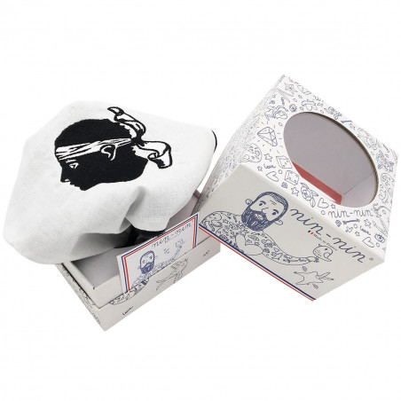 Packaging personalised baby comforter Le Corse. Original and made in France. Nin-Nin brand
