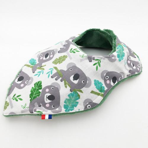 Personalised bandana bib Koala. Made in France. Nin-Nin