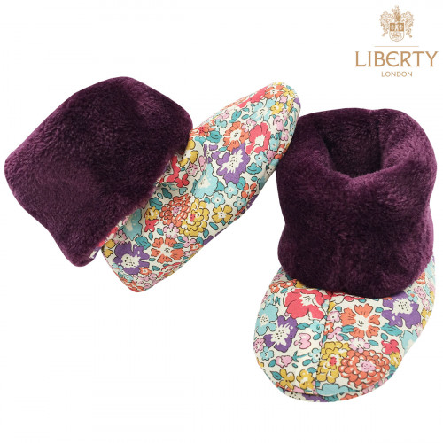 Bootee Victoria Liberty of London. Original baby birth gift made in France. Nin-Nin