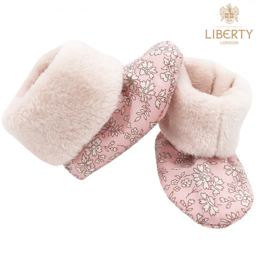 Bootee Thelma Liberty of London. Original baby birth gift made in France. Nin-Nin
