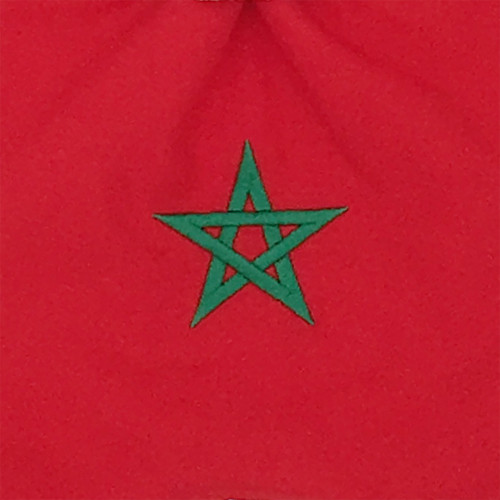 Embroidery baby comforter Le Marocain. Original and personalised soft toy. Made in France. Nin-Nin brand