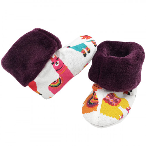 Bootee Peru llama. Original baby birth gift made in France. Nin-Nin