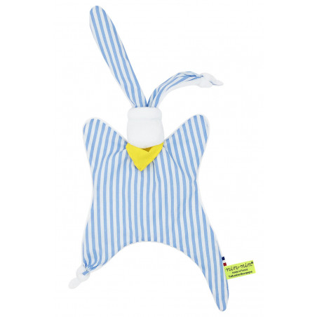 Personalised baby comforter Le Marin Pêcheur. Original birth gift made in France. Nin-Nin