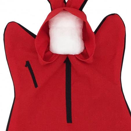 Embroidery baby comforter Le Braqueur. Binge-watch easy La Casa de Papel. Personalised soft toy made in France. Nin-Nin