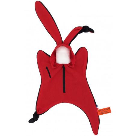Original baby comforter Le Braqueur. Binge-watch easy La Casa de Papel. Personalised soft toy made in France. Nin-Nin Brand