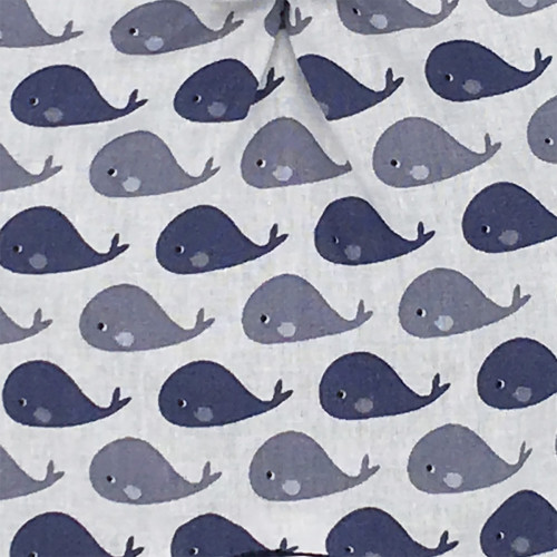 Fabrics original baby comforter whale. Personalised soft toy made in France. Nin-Nin Brand