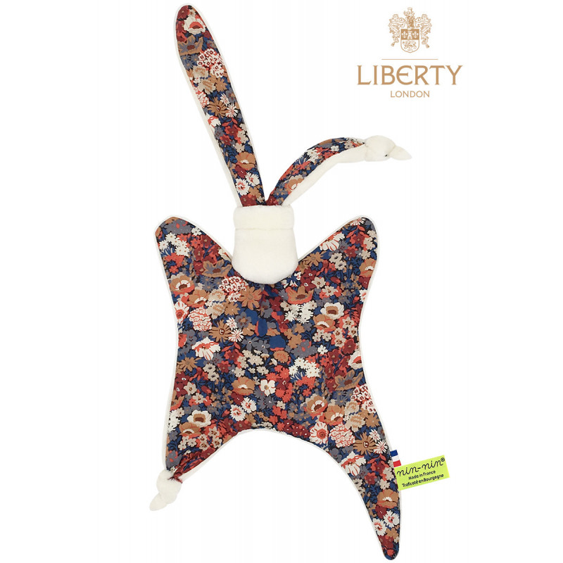 Baby comforter Le Jude Liberty of London. Original and personalised birth gift made in France. Nin-Nin