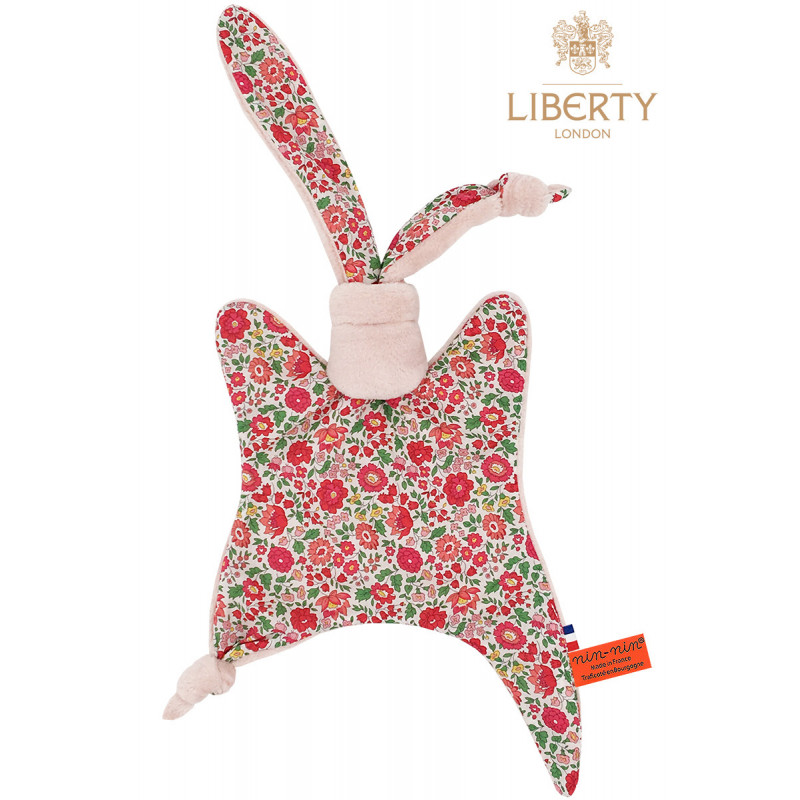 Baby comforter Le Joy Liberty of London. Original and personalised birth gift made in France. Nin-Nin