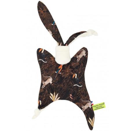 Personalised baby blanket Le Guyane. Original soft toy made in France. Nin-Nin