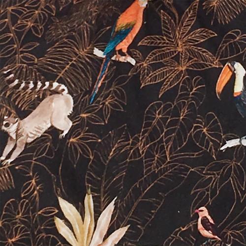 Fabric personalised baby blanket Le Guyane. Original soft toy made in France. Nin-Nin