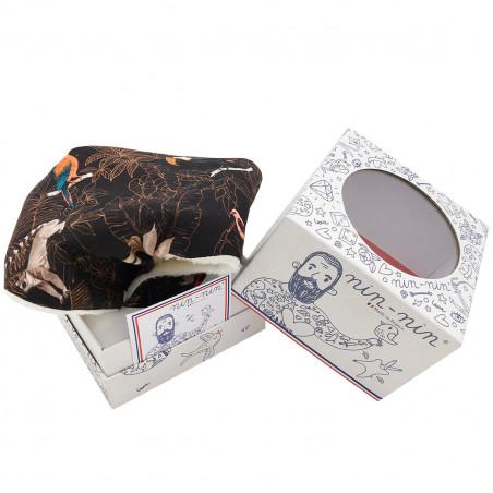 Packaging personalised baby blanket Le Guyane. Original soft toy made in France. Nin-Nin
