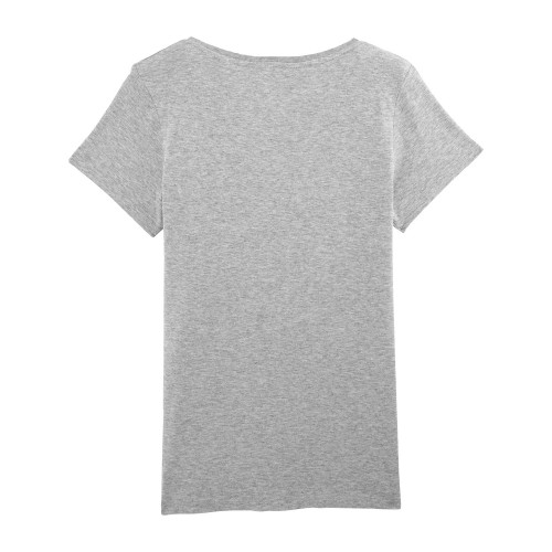 Back grey 'Maîtresse qui déchire' woman's t-shirt. Made in France