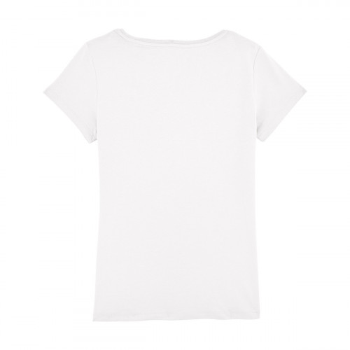 Back white 'Maîtresse qui déchire' woman's t-shirt. Made in France