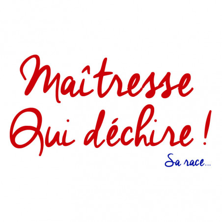 Embroidery 'Maîtresse qui déchire' woman's t-shirt. Made in france