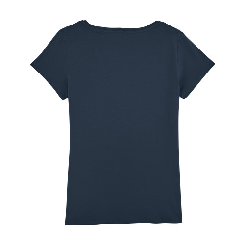 Back navy 'Maîtresse qui déchire' woman's t-shirt. Made in France