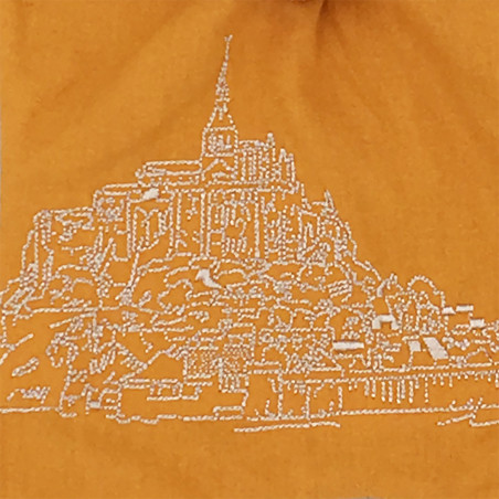 Embroidery personalised blanket Le Mont Saint Michel. Original and made in France. Nin-Nin brand