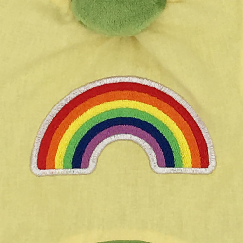 Embrodery personalised blanket Le Rainbow. LGBT, original and made in France. Nin-Nin brand