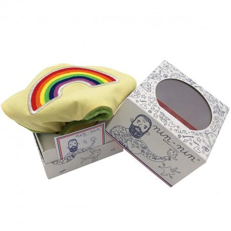 Packaging personalised blanket Le Rainbow. LGBT, original and made in France. Nin-Nin brand