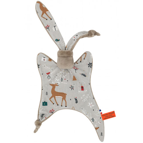 Doudou the Christmas Doe. Personalized, original and made in France birth gift. Nin-Nin soft toy