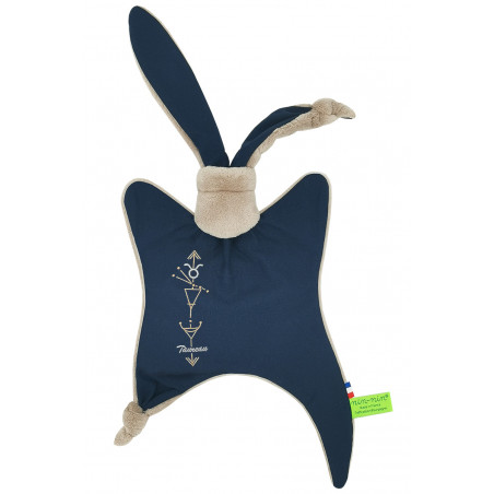 Astrology blanket Le taureau. Personalized, original birth gift, zodiac sign. Nin-Nin doudou baptism gift