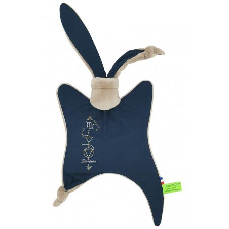 Astrology blanket Le scorpion. Personalized, original birth gift, zodiac sign. Nin-Nin doudou baptism gift