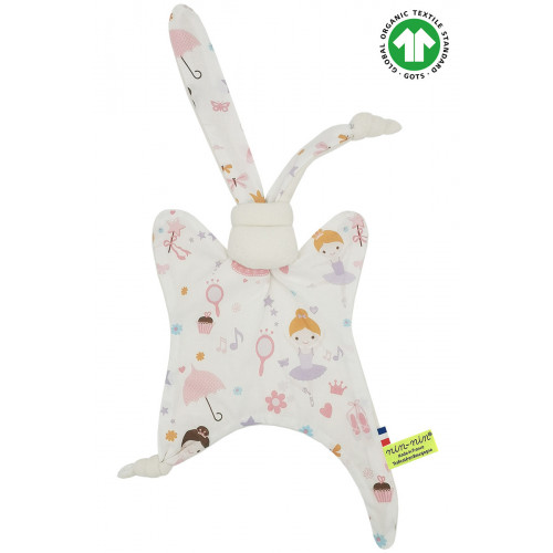ORGANIC BABY COMFORTER LE BALLERINE. Made in France