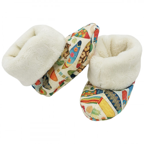 Bootee Hossegor for baby. Original and cool birth gift. Manufactured in France with love.