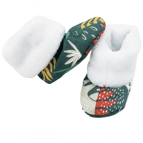 Bootee Tropical for baby. Original and cool birth gift. Manufactured in France with love.